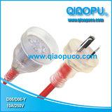 QIAOPU 乔普透明澳大利亚power cord plug电源线插头D06D06-Y