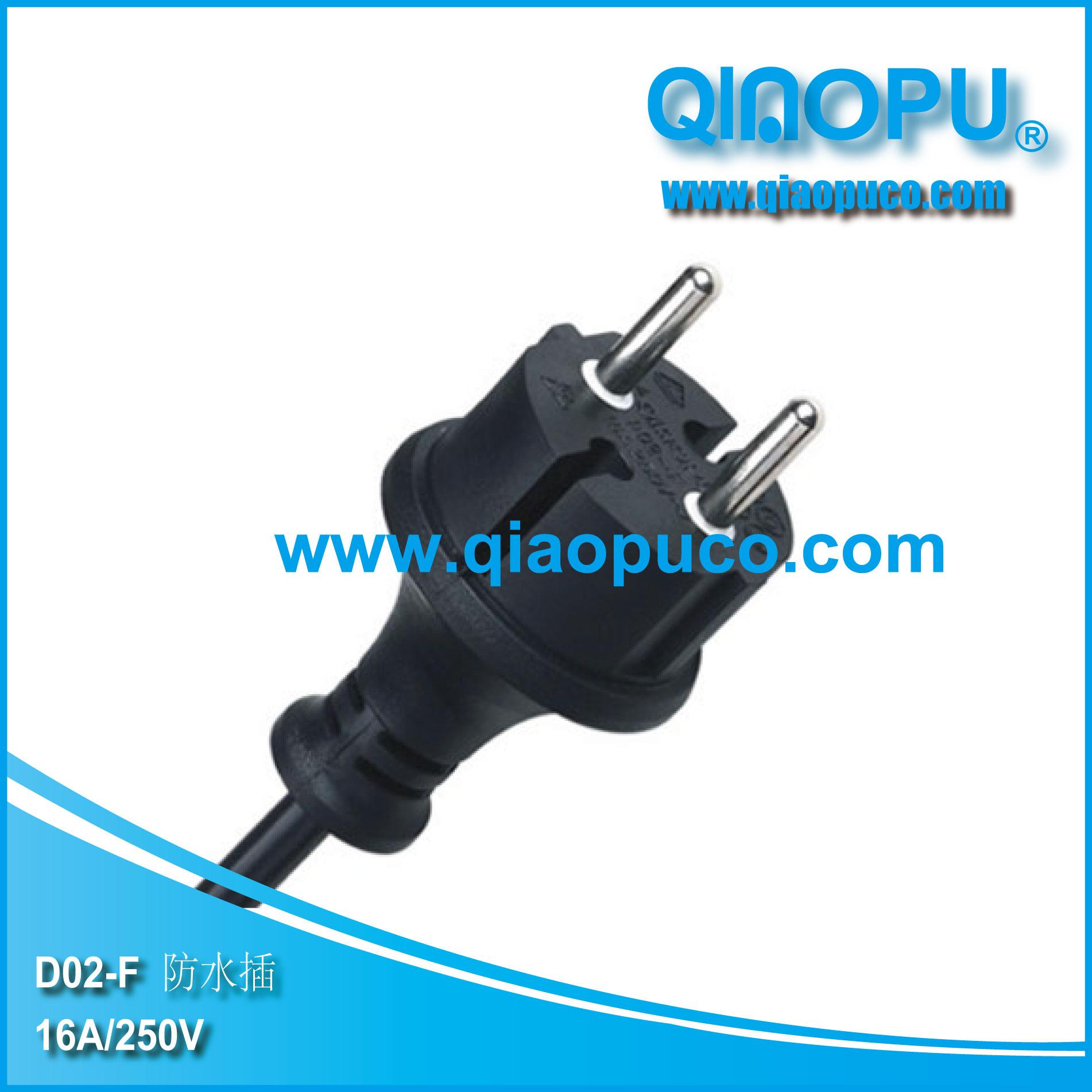 European non rewirable waterproof plug ningbo qiaopu electric co european non rewirable waterproof plug xflitez Choice Image