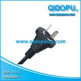QIAOPU/乔普D10 阿根廷两芯电源线插头,Argentina plug