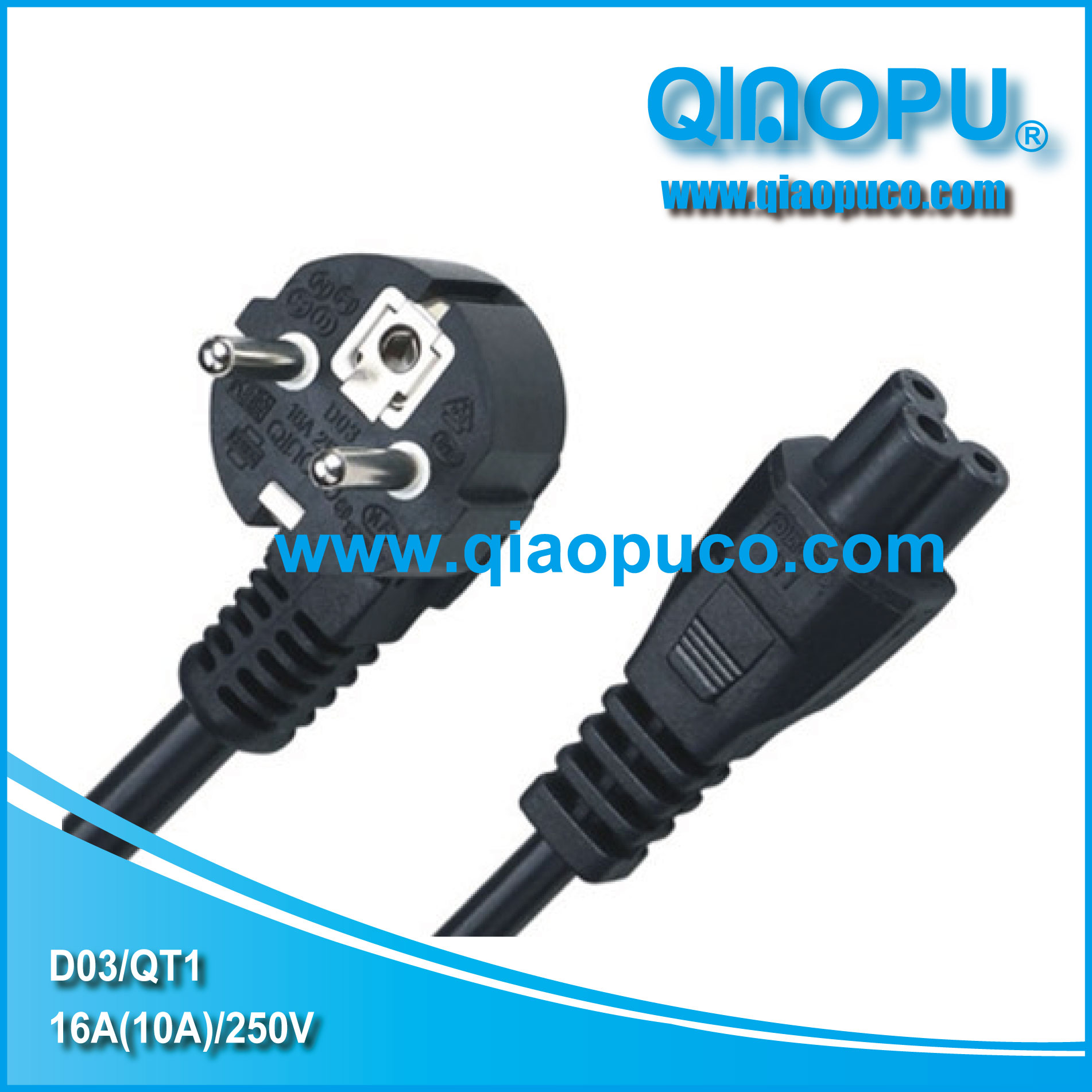 D03 qt1 vde certification laptop power cordthe european standard d03 qt1 vde plugthree pin plug xflitez Choice Image